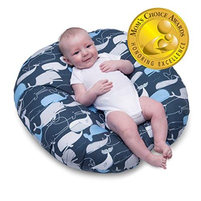Boppy Original Newborn Lounger, Big Whale Navy 141[並行輸入]