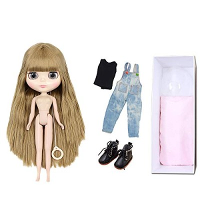 BJD Dolls Blythe puppet, fashion 1/6 Sd 30cm Ball Jointed Body Dolls, blond Replaceable big Eyes...