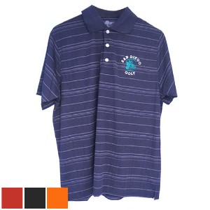 San Diego Gift Three Color Textured Stripe Polo Shirts (#2953)【ゴルフ ゴルフウェア>ポロ/長袖シャツ】