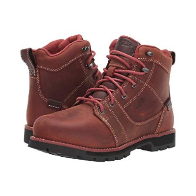 "KEEN UTILITY シアトル 6"" スニーカー 【 SEATTLE ALUMINUM TOE WATERPROOF GINGERBREAD BLACK 】 送料無料"