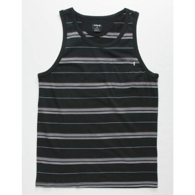ハーレー HURLEY メンズ タンクトップ トップス【Dri-FIT Harvey Stripe Black Pocket Tank Top】BLACK