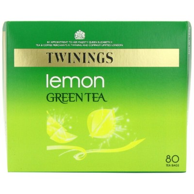 Twinings Light & Delicate Green Tea with Lemon Bags 160 g 80 Tea Bags (Pack of 4 total 320 teabags)