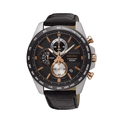 セイコー SEIKO 腕時計 ウォッチ メンズ 男性用 SSB265P1 Seiko Men's Chronograph Quartz Watch with Leather Strap...