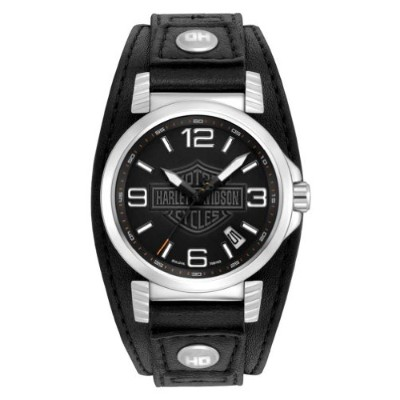 ブローバ 腕時計 メンズ 76B163 Harley-Davidson Men's Bulova Ghost Bar & Shield Wrist Watch. 76B163ブローバ 腕時計 メンズ...