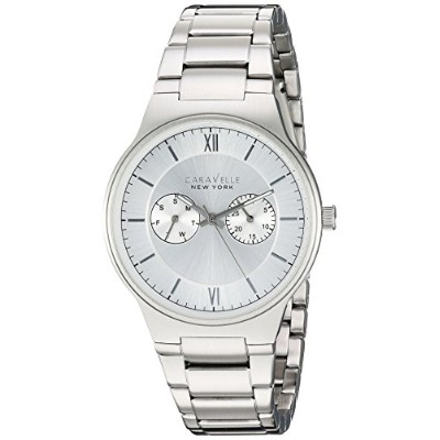 ブローバ 腕時計 メンズ 43A134 Caravelle New York Men's Analog-Quartz Watch with Stainless-Steel Strap, Silver...