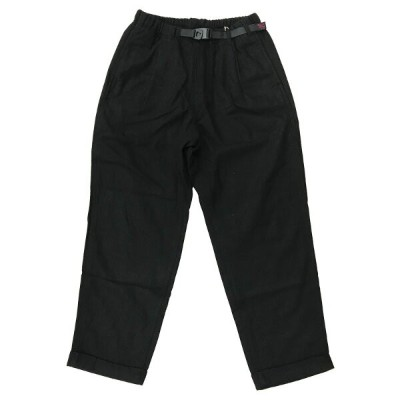 GRAMICCI(グラミチ) WOOL BLEND TUCK TAPERED PANTS L BLK GMP-010