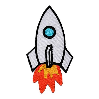 Cute Rocket Space DIY Embroidered Sew Iron on Patch RK-001
