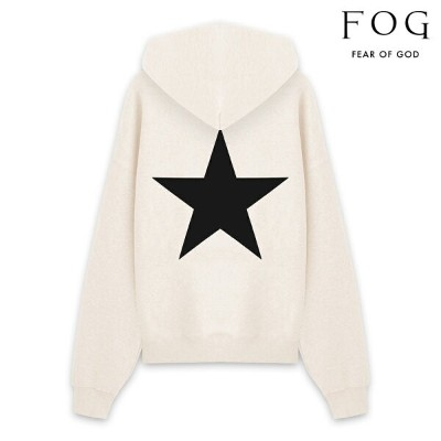 FOG ESSENTIALS エフオージー エッセンシャルズ FEAR OF GOD ESSENTIALS STAR PULLOVER HOODIE - BUTTER CREAM プルオーバー...