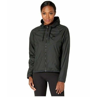 ナイキ レディース コート アウター NSW Windrunner Jacket Femme Black/Black/Black