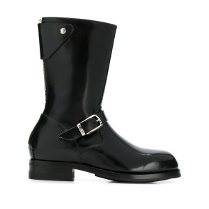 Paul Smith buckle detail boots - ブラック
