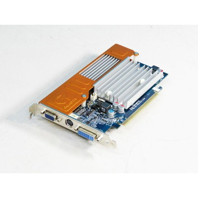 GIGABYTE GeForce8400GS 512MB DVI/VGA/TV-out PCI-Express x16 GV-NX84S512HP【中古】