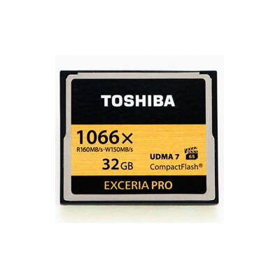 【32GB】 TOSHIBA 東芝 EXCERIA PRO コンパクトフラッシュ 1066倍速 UDMA7 R:160MB/s W:150MB/s 海外リテール CF-032GSR8A ◆メ