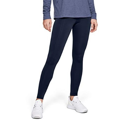 Under Armour Coldgear Armour Legging, Midnight Navy//Metallic Silver, Small