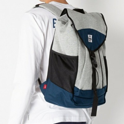 チャムス Book Pack Sweat Nylon 20L (CH60-2672 G019) トレッキング バックパック : H-Gray/Basic Navy-G019 CHUMS