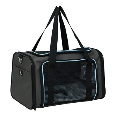 X-ZONE PET Airline Approved Pet Carriers,Soft Sided Collapsible Pet Travel Carrier for Medium Puppy...