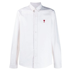 Ami Paris Button-down Ami Heart Shirt - ニュートラル