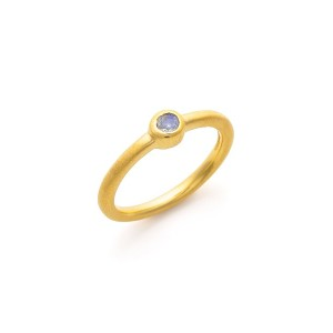 【72%OFF】Signature Single Stacking Ring デザインリング ゴールド/ムーンストーン 5