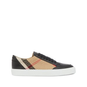 Burberry check pattern low-top sneakers - ブラック