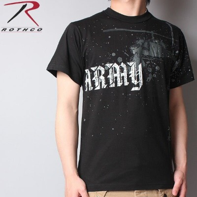 ROTHCO ロスコ Vintage ARMY HELICOPTER T-Shirt ブラック ミリタリーTシャツ ROTHCO ロスコ WIP メンズ ミリタリー アウトドア ミリタリーシャツ...