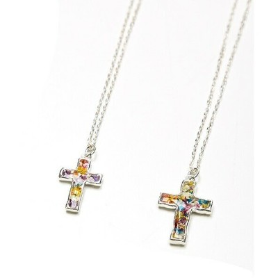 FOR YOU by rehacer Flower Cross Necklace/レアセル(rehacer)