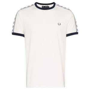 Fred Perry Taped ringer logo cotton T-shirt - ホワイト