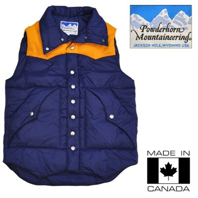 【OUTLET】Powderhorn (パウダーホーン) DOWN VEST/ ダウンベスト