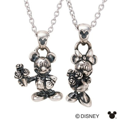 【white clover/Disney Series】ディズニー/ミッキー&ミニー/立体ペアネックレス&オリジナルBOX DI003L&DI003M 送料無料 彼女 [ 誕生日 プレゼント ギフト...