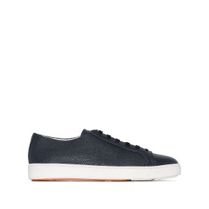Santoni Black Patent low-top sneakers - ブラック
