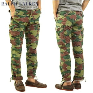 "Polo by Ralph Lauren Men's ""STRAIGHR FIT"" Camouflage Cargo Pants ラルフローレン カーゴパンツ 売れ筋"