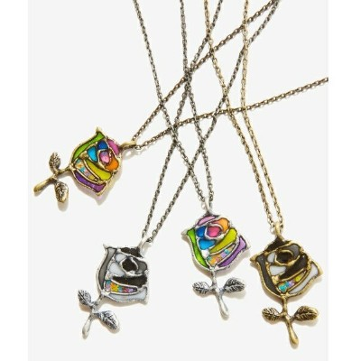Stained glass Rose Necklace/レアセル(rehacer)
