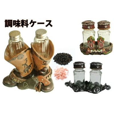 western Boots spice set ウエスタンブーツ調味料入れ/乗馬ギフト
