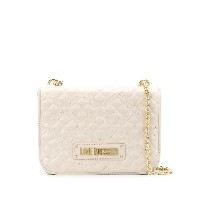 Love Moschino quilted logo shoulder bag - ニュートラル