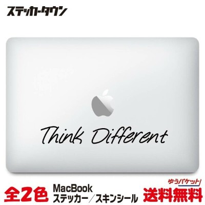 "MacBookステッカー スキンシール ""think different"" MacBook Air / Pro"