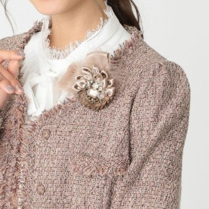 SALE【トゥー ビー シック(TO BE CHIC)】 フルールフリンジブローチ ピンク