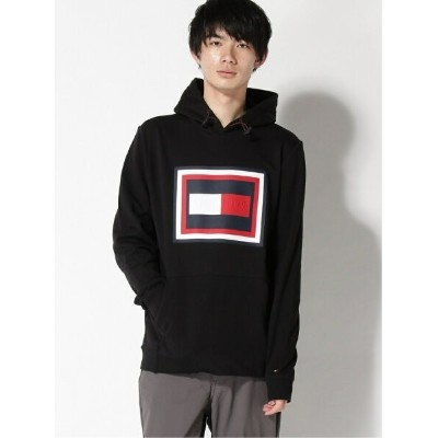【SALE/50%OFF】TOMMY HILFIGER (M)TOMMY HILFIGER(トミーヒルフィガー) エンボスフーディ トミーヒルフィガー カットソー パーカー ブラック レッド...