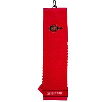NCAA San Diego State Embroidered Golf Towel【ゴルフ その他のアクセサリー>タオル】