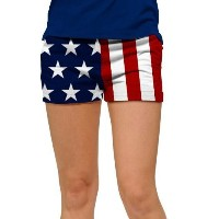 LoudMouth Ladies Stars & Stripes Mini Short【ゴルフ レディース>パンツ】