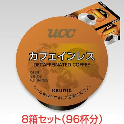 KEURIG K-Cup キューリグ Kカップ UCC カフェインレス 12個入×8箱セット