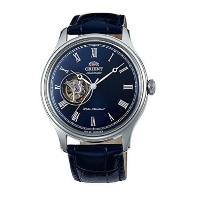 オリエント 腕時計 メンズ 【送料無料】ORIENT 'Envoy' Classic Automatic Open Heart Roman Blue Dial Watch AG00004Dオリエント...