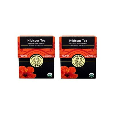 Buddha Teas Hibiscusオーガニックハーブティー-パック2 Buddha Teas Hibiscus Organic Herbal Tea - Pack of 2