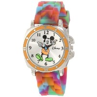 Disney Mickey Mouse ディズニー ミッキーマウス キッズ腕時計 Kids' MK1191 Mickey Mouse Tie-Dye Rubber Strap Watch