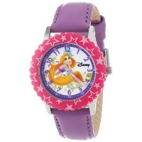 "Disney ディズニー プリンセス キッズ腕時計 Kids' W000045 ""Princess Time Teacher"" Stainless Steel Watch with Purple..."