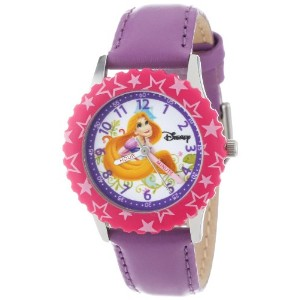 """Disney ディズニー プリンセス キッズ腕時計 Kids' W000045 """"Princess Time Teacher"""" Stainless Steel Watch with Purple..."""