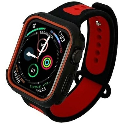 ROOX ルークス ツートーン・スポーツ for Apple Watch 4&5 40mm レッド JGWSP2W5S0-RD