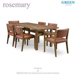 35%OFF [7点セット] GREEN home style ROSE MARY DINING TABLE 180 + ARM CHAIR A + SIDE CHAIR A (グリーン...