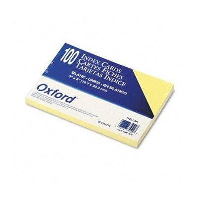 Unruled Index Cards, 5 x 8, Canary, 100/Pack (並行輸入品)