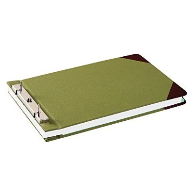 "Wilson Jones Canvas Sectional Storage Post Binder For 8-1/2 X 14 Sheets, 4-1/4"" Post Spacing, Green..."