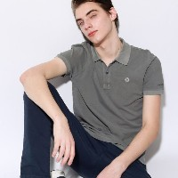 【ECOALF】 ・TED スリムポロシャツ / TED POLO SLIM PIQUE グレー