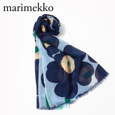 マリメッコ ストール FIORE PIENI UNIKKO 048374 556 DARK BLUE/LIGHT BLUE/GREEN MARIMEKKO 【zkk】