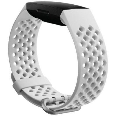 Fitbit フィットビット Charge4交換用スポーツバンド Frost White Lサイズ Frost White FB168SBWTL